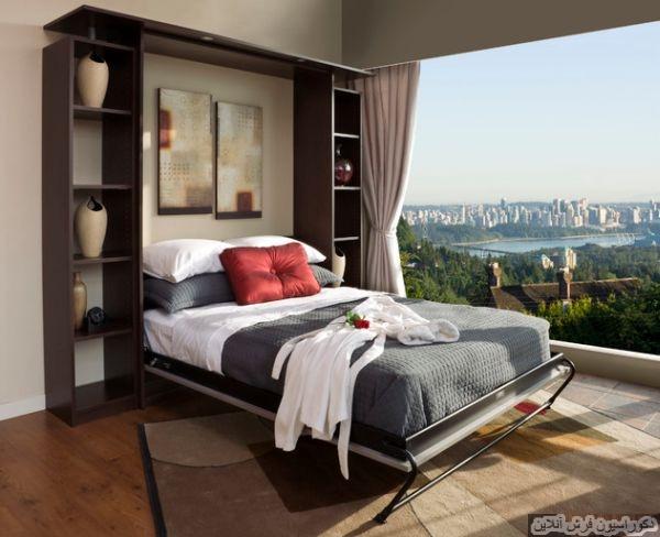 ایده های هوشمندانه تخت های تاشو برای اتاق های کوچک