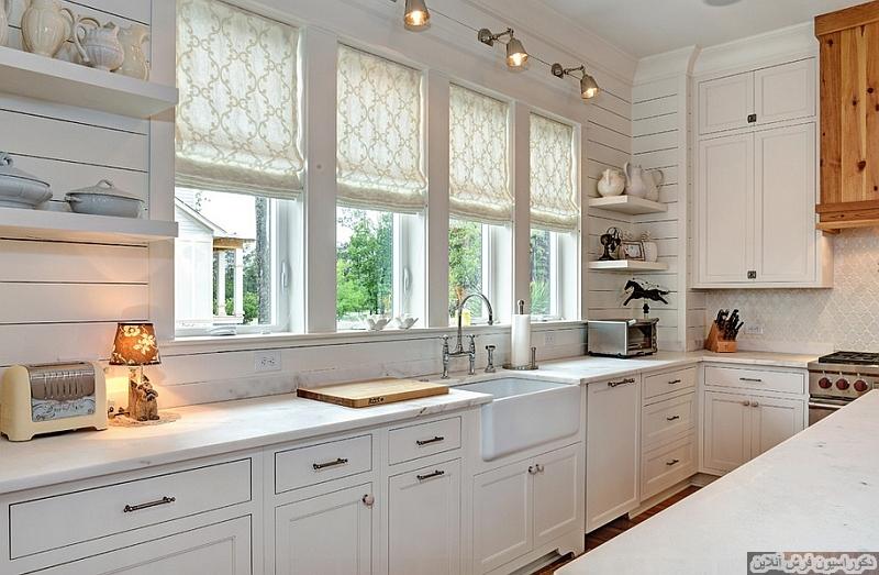 در تابستان پنجره ها را با سایه بان های رومی دکوراسیون کنید