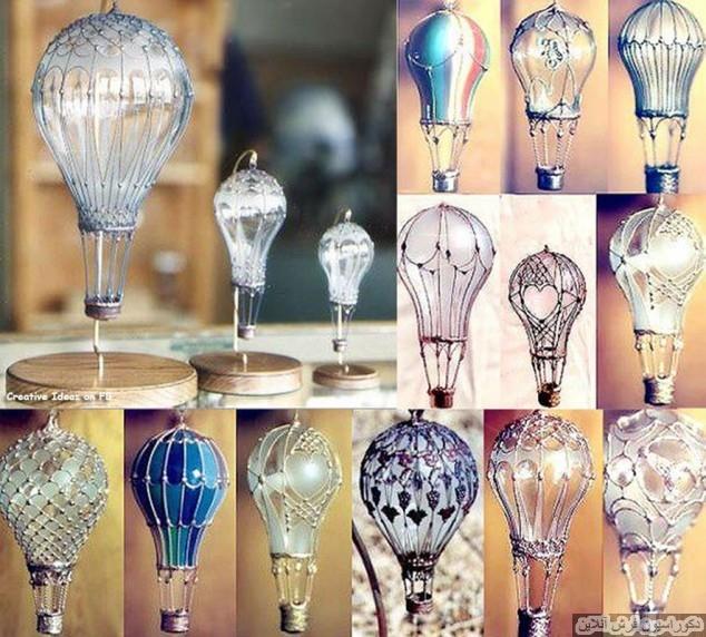۲۰ کاردستی با لامپ سوخته، حبابی و یا پرمصرف
