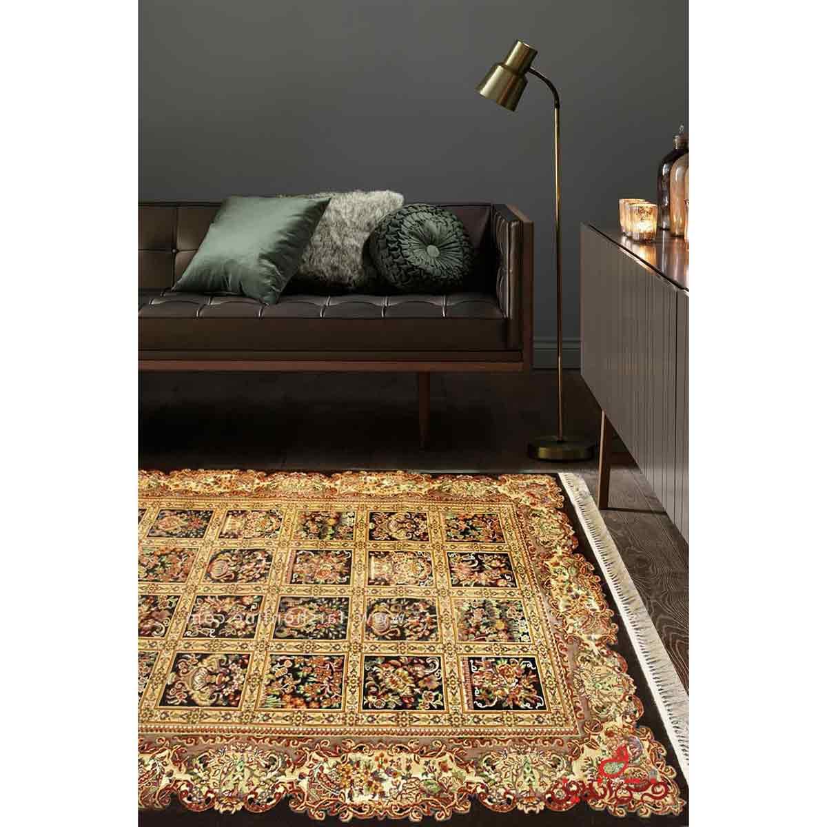فرش ماشینی عرش طرح ماندگار فندقی