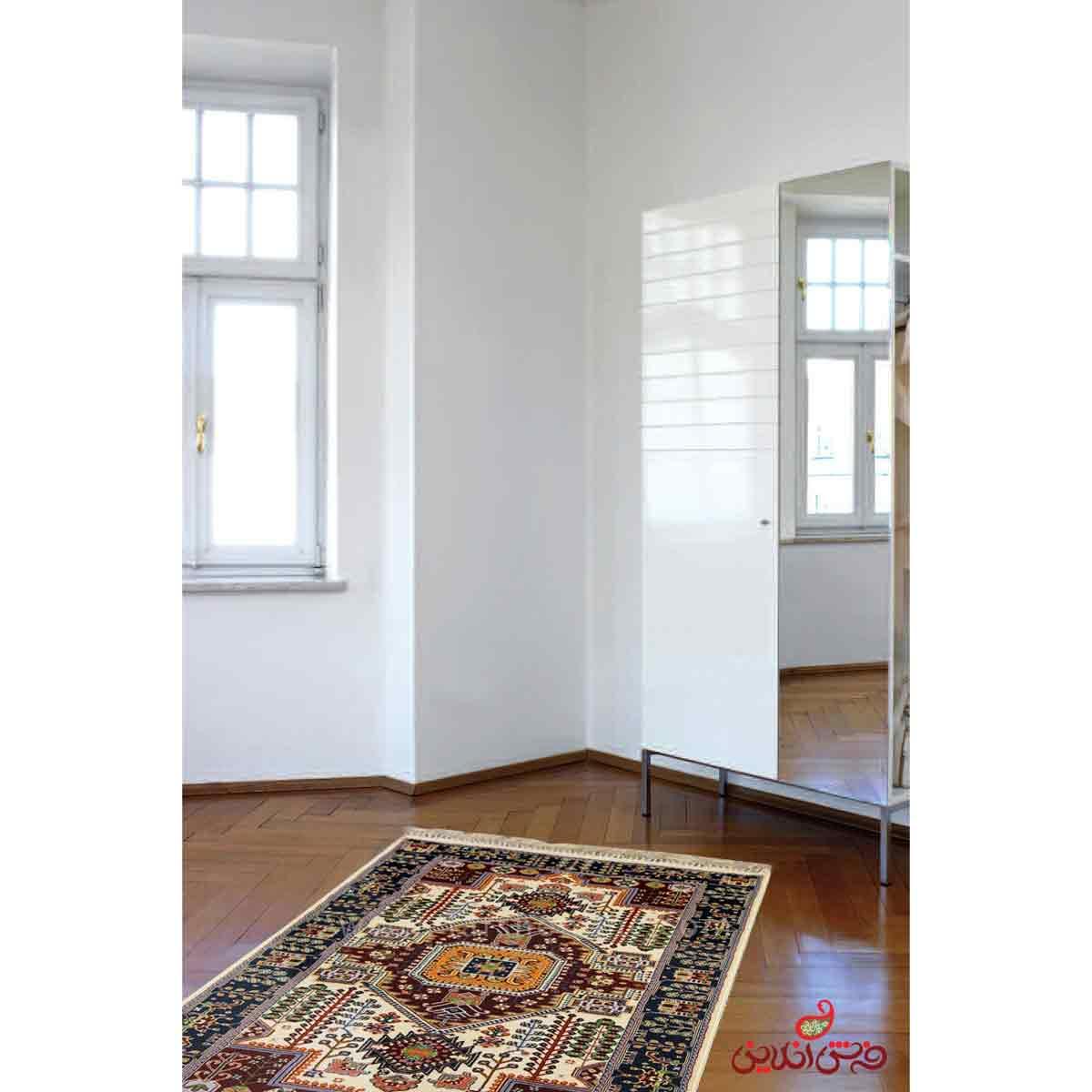 فرش ماشینی عرش طرح گلنار کرم