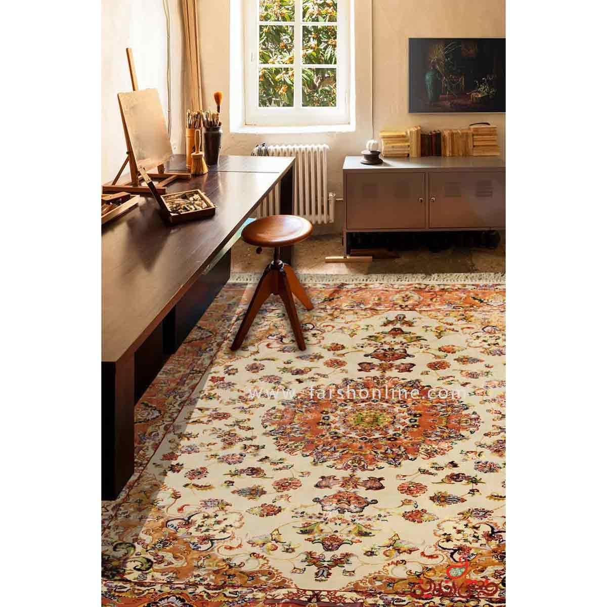 فرش ماشینی عرش طرح بنام کرم