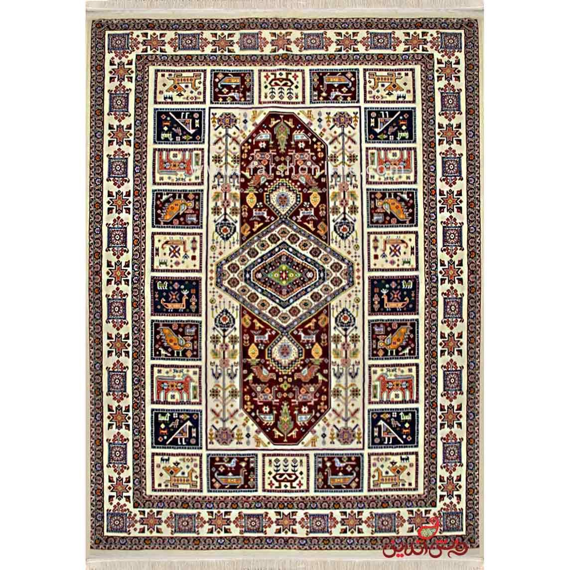 فرش ماشینی عرش طرح الیما کرم