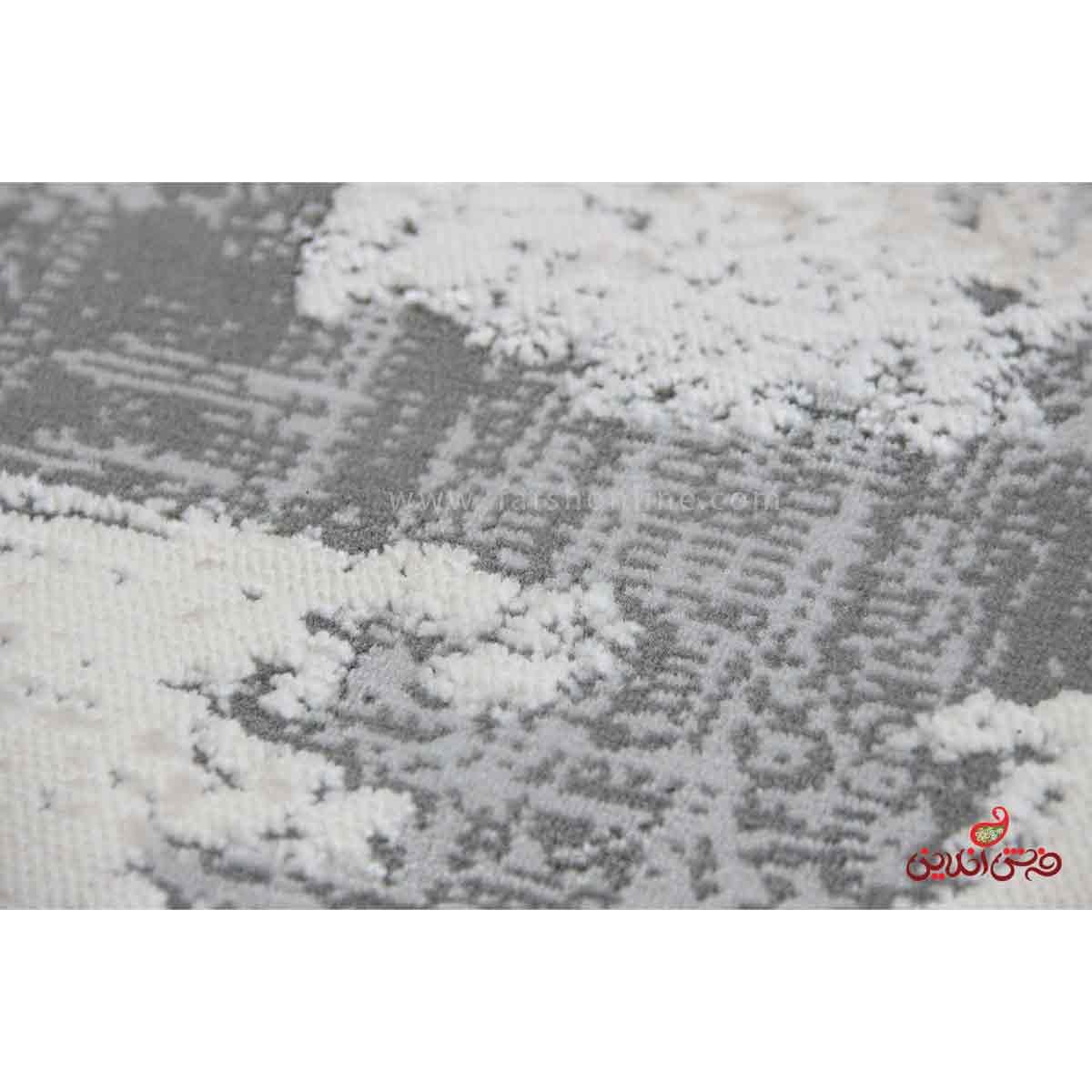 فرش ماشینی آرمانی کلکسیون حسنا کد 2008 طوسی