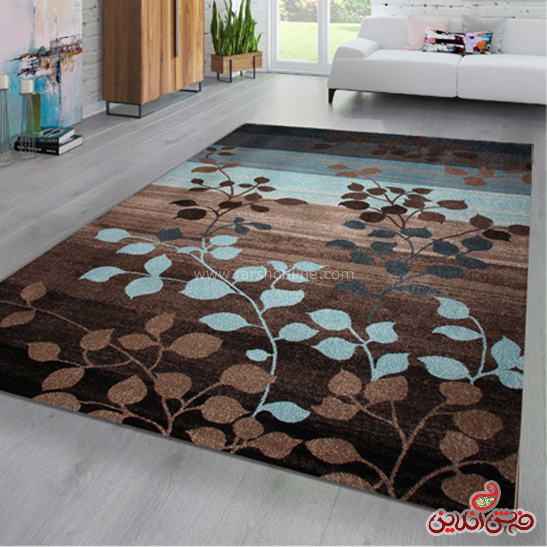 فرش ماشینی ساوین 4001 شکلاتی
