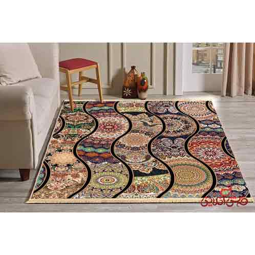 فرش ماشینی کلاریس کلکسیون چهل تیکه کد 100515