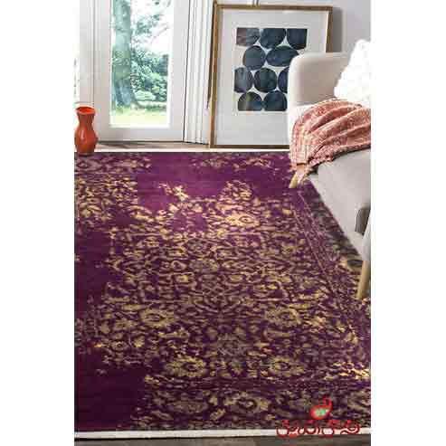 فرش ماشینی کلاریس کلکسیون کهنه نما کد  100601