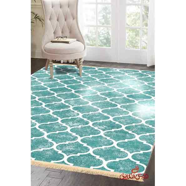 فرش ماشینی کلاریس کلکسیون مدرن کد  100450 سبز