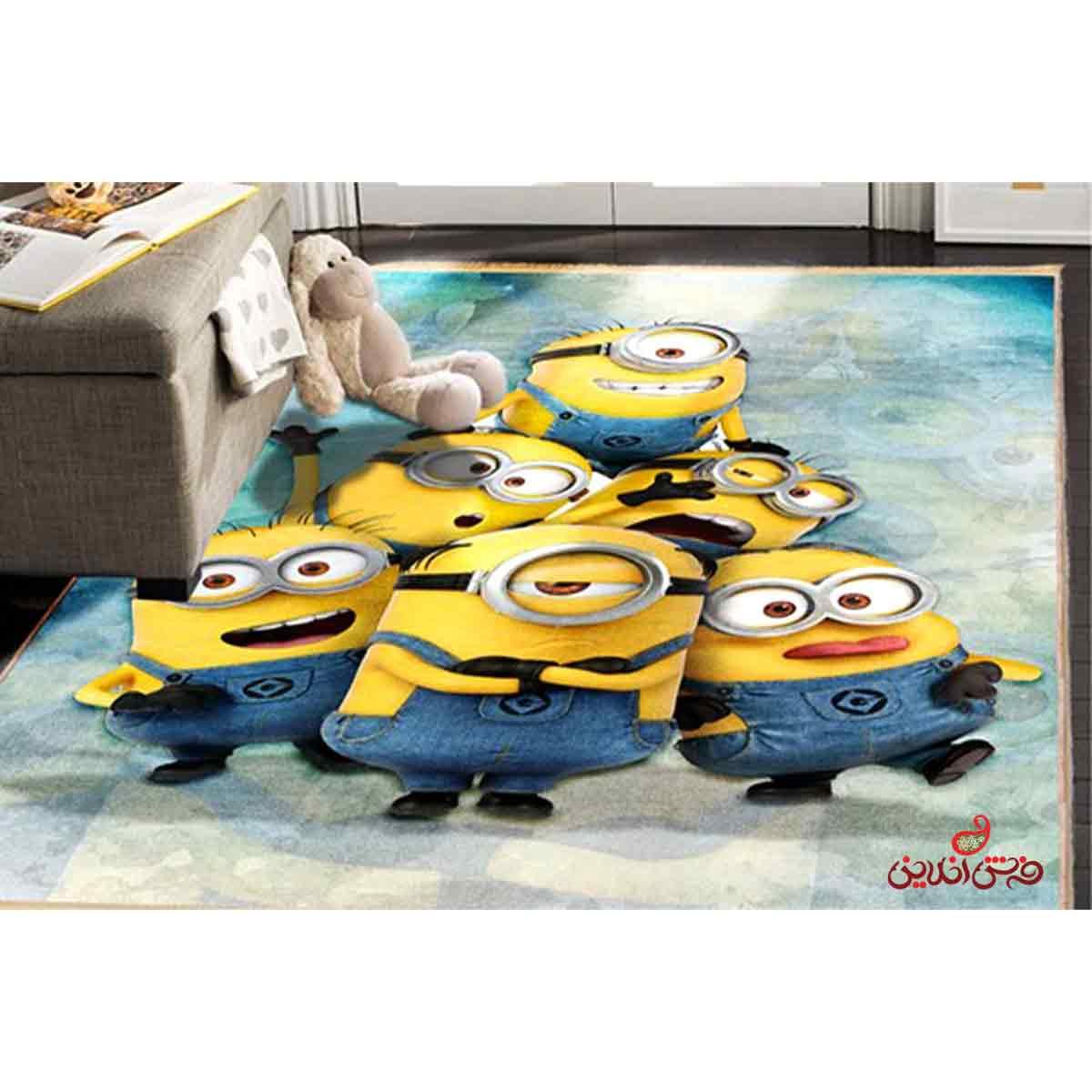 فرش ماشینی کودک کلاریس مینیون ها کد 100243