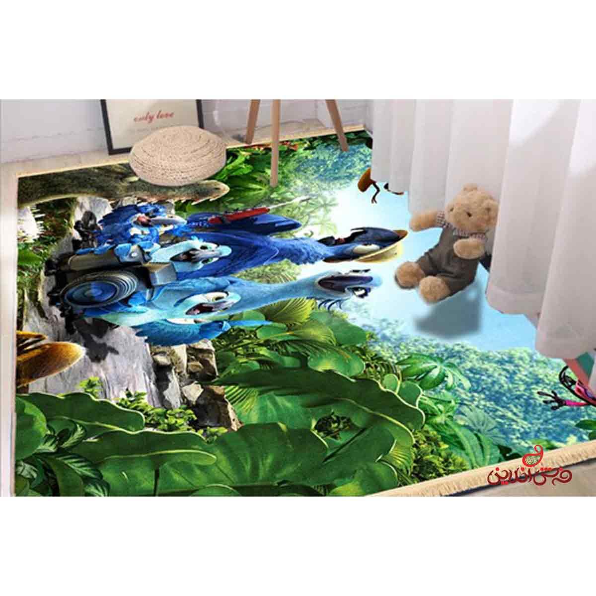 فرش ماشینی کودک کلاریس طرح ریو کد 100234