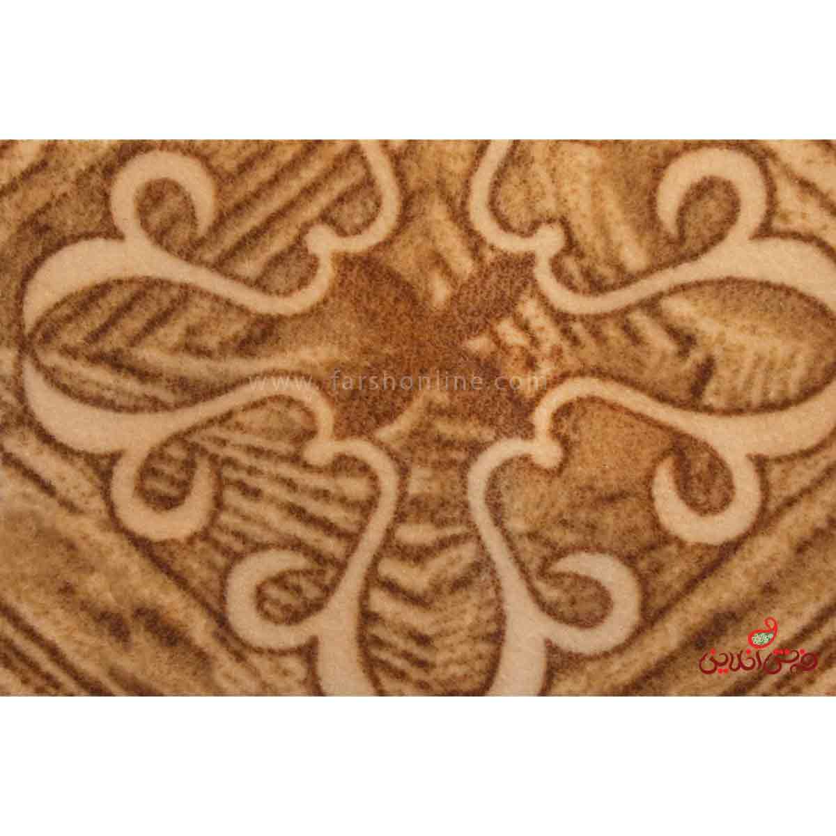موکت ظریف مصور چاپی طرح نارون قهوه ای