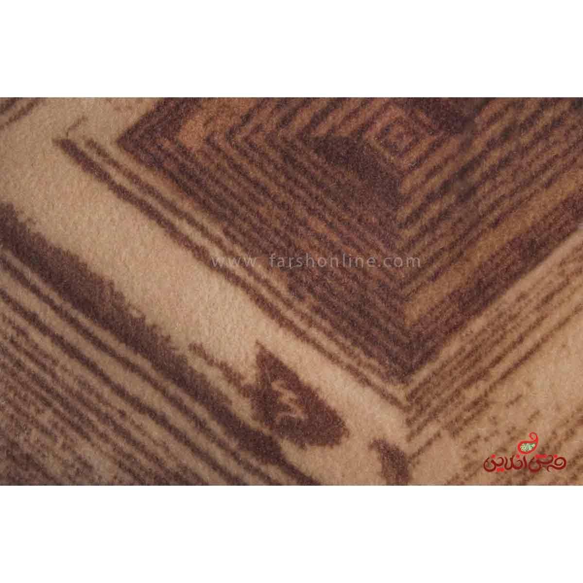 موکت ظریف مصور طرح اطلس قهوه ای