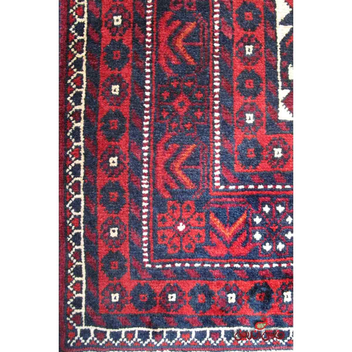 فرش دستباف کوهی سیرجاز لاکی سرمه ای کد 903