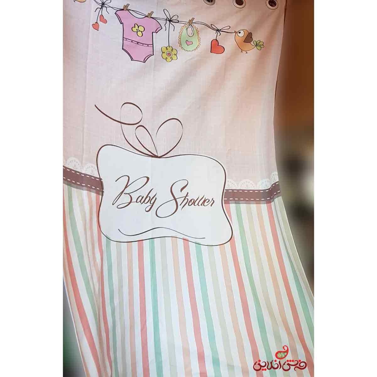 پرده 2عددی کودک طرح لباس بچه کد 2331