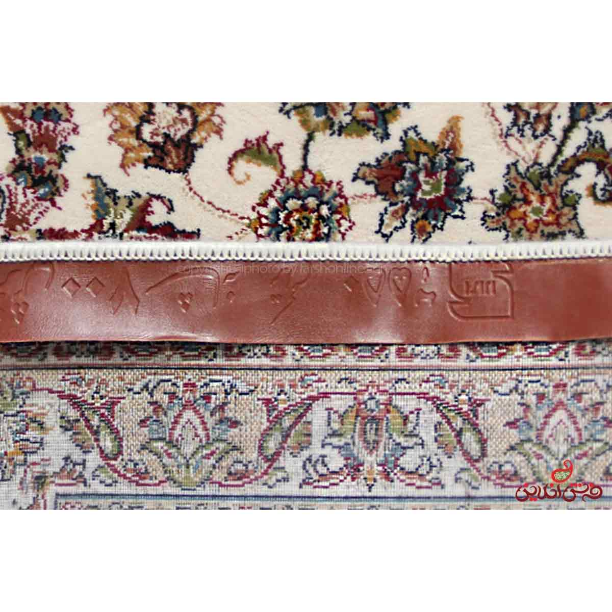 فرش ماشینی ممتاز طرح نایین اصفهان کرم