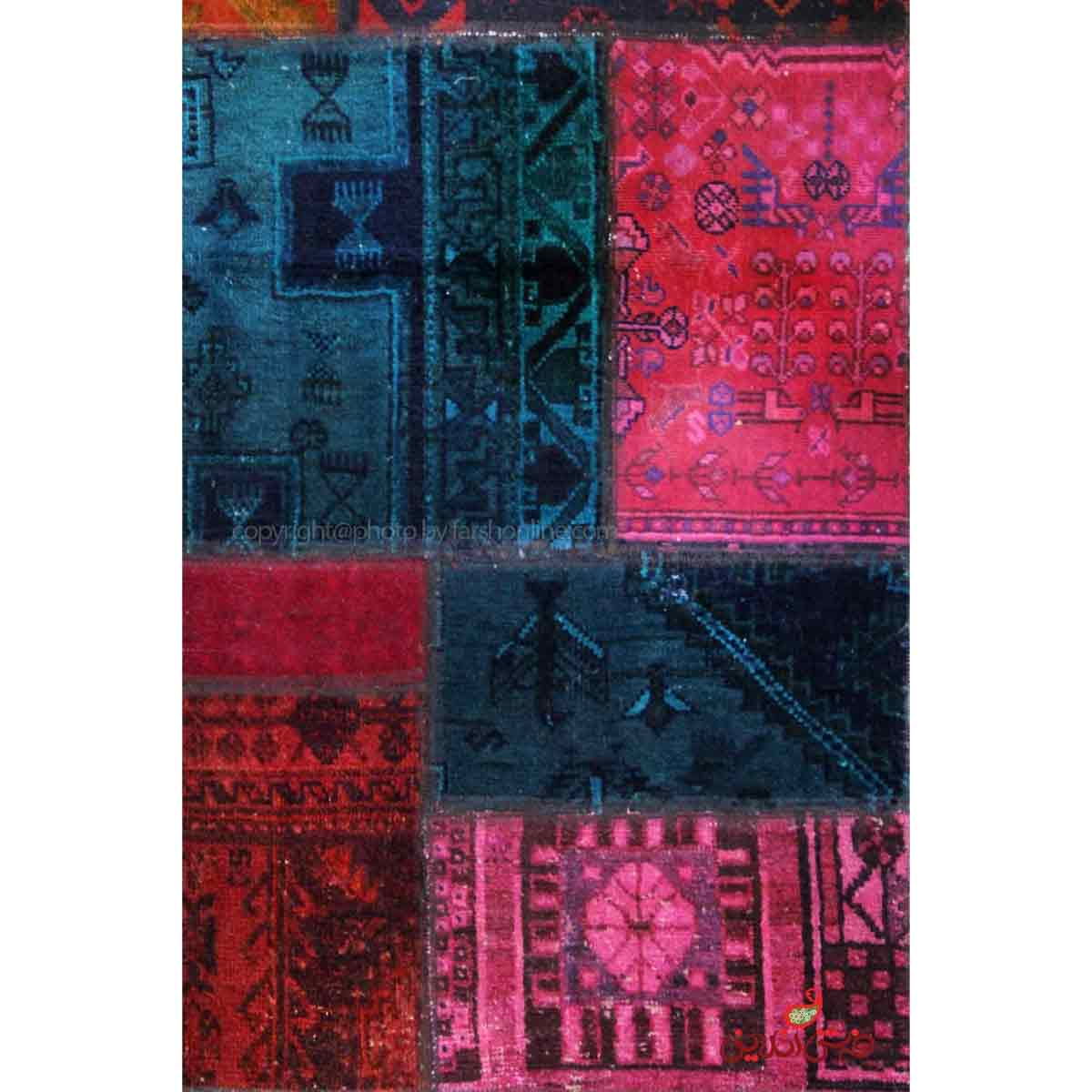 فرش دستباف کلاژ کد 142