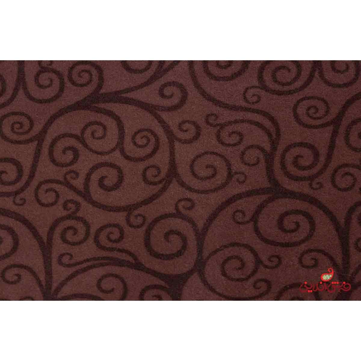 موکت ظریف مصور چاپی طرح درباری قهوه ای