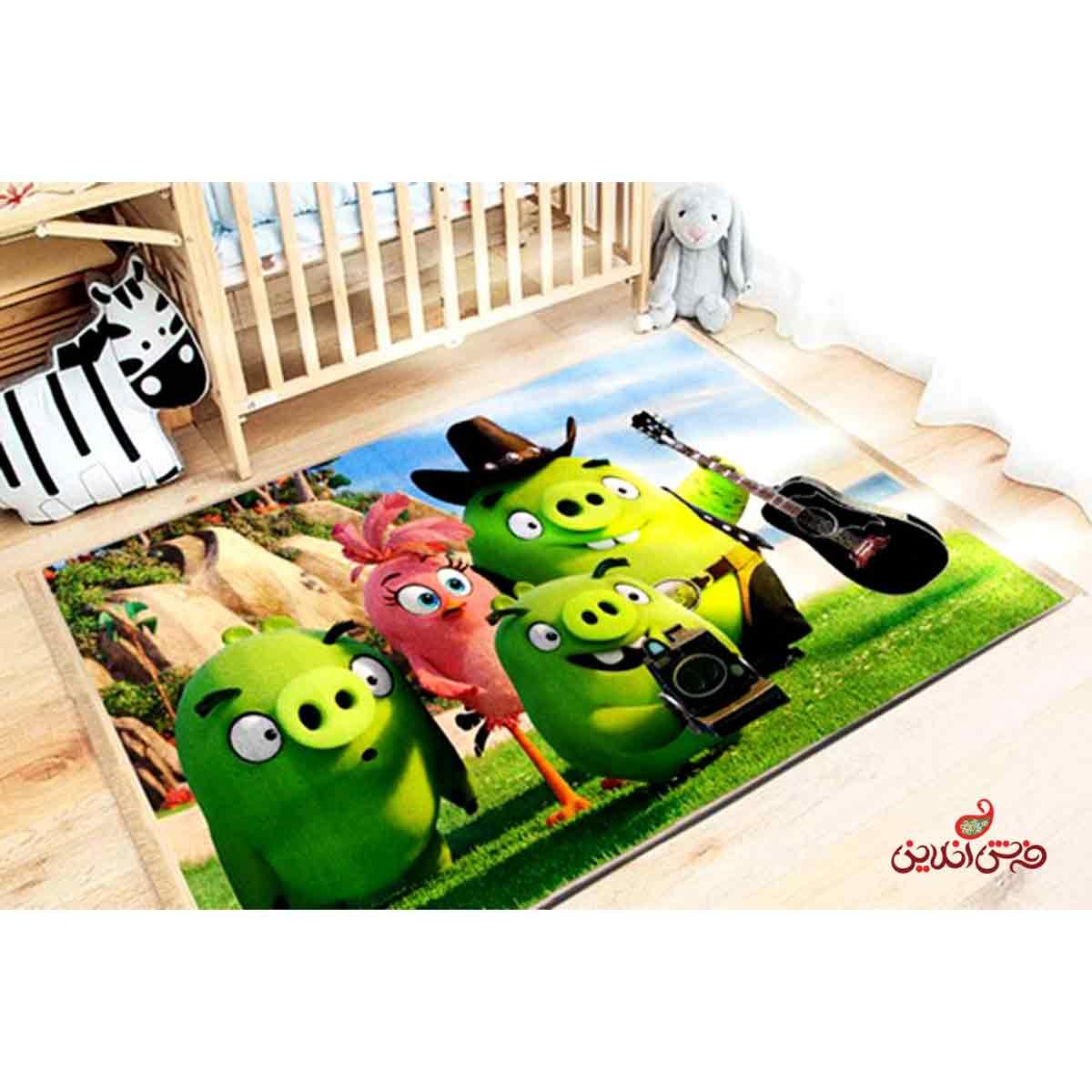 فرش ماشینی کودک کلاریس طرح پرندگان خشمگین کد 100225