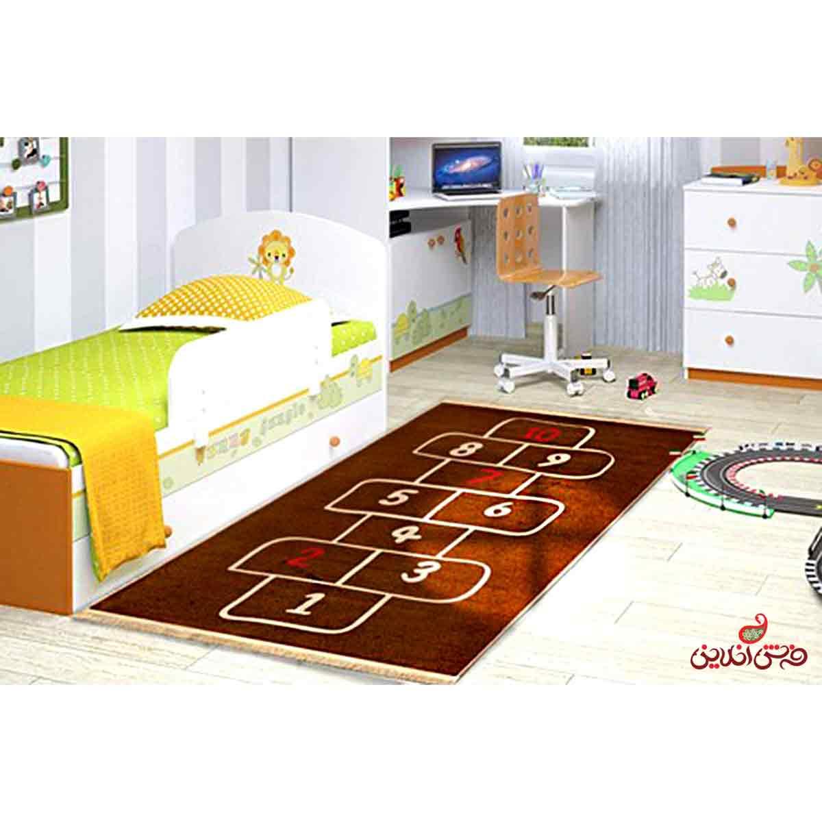فرش ماشینی کودک کلاریس طرح لی لی کد 100206