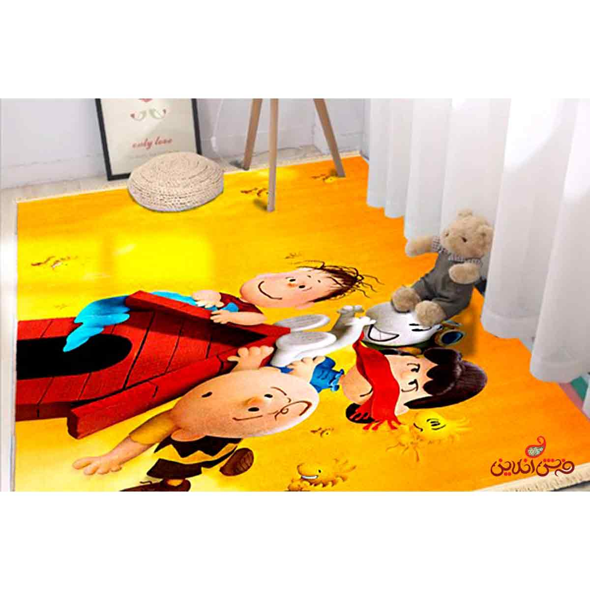 فرش ماشینی کودک کلاریس طرح پیناتس کد 100233