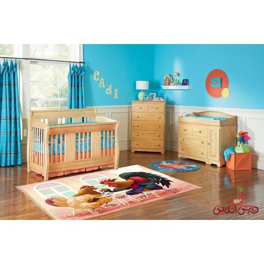 فرش ماشینی کودک کلاریس طرح خروس کد 100214