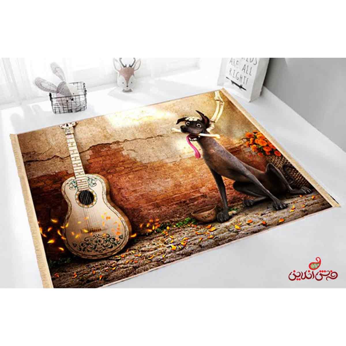 فرش ماشینی کودک کلاریس طرح کوکو COCO کد 100227