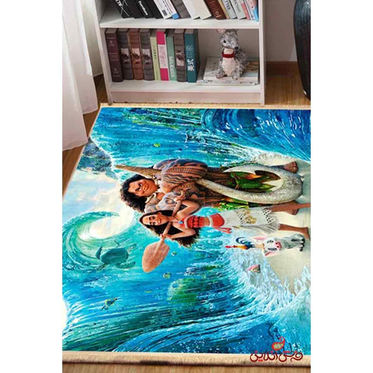 فرش ماشینی کودک کلاریس طرح موآنا کد 100231