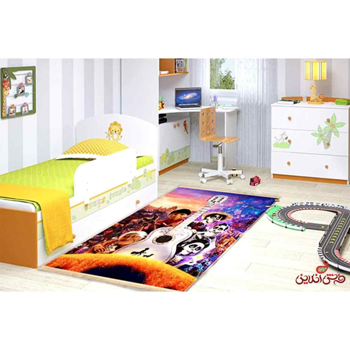 فرش ماشینی کودک کلاریس طرح کوکو Coco کد 100203