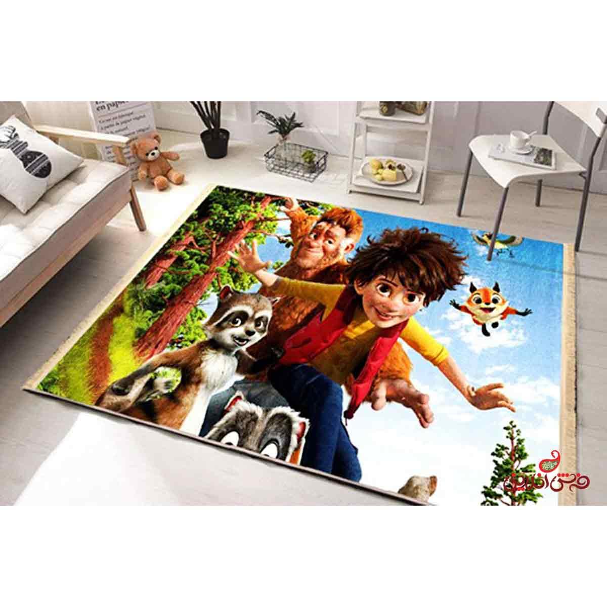 فرش ماشینی کودک کلاریس پسر پا گنده کد 100200