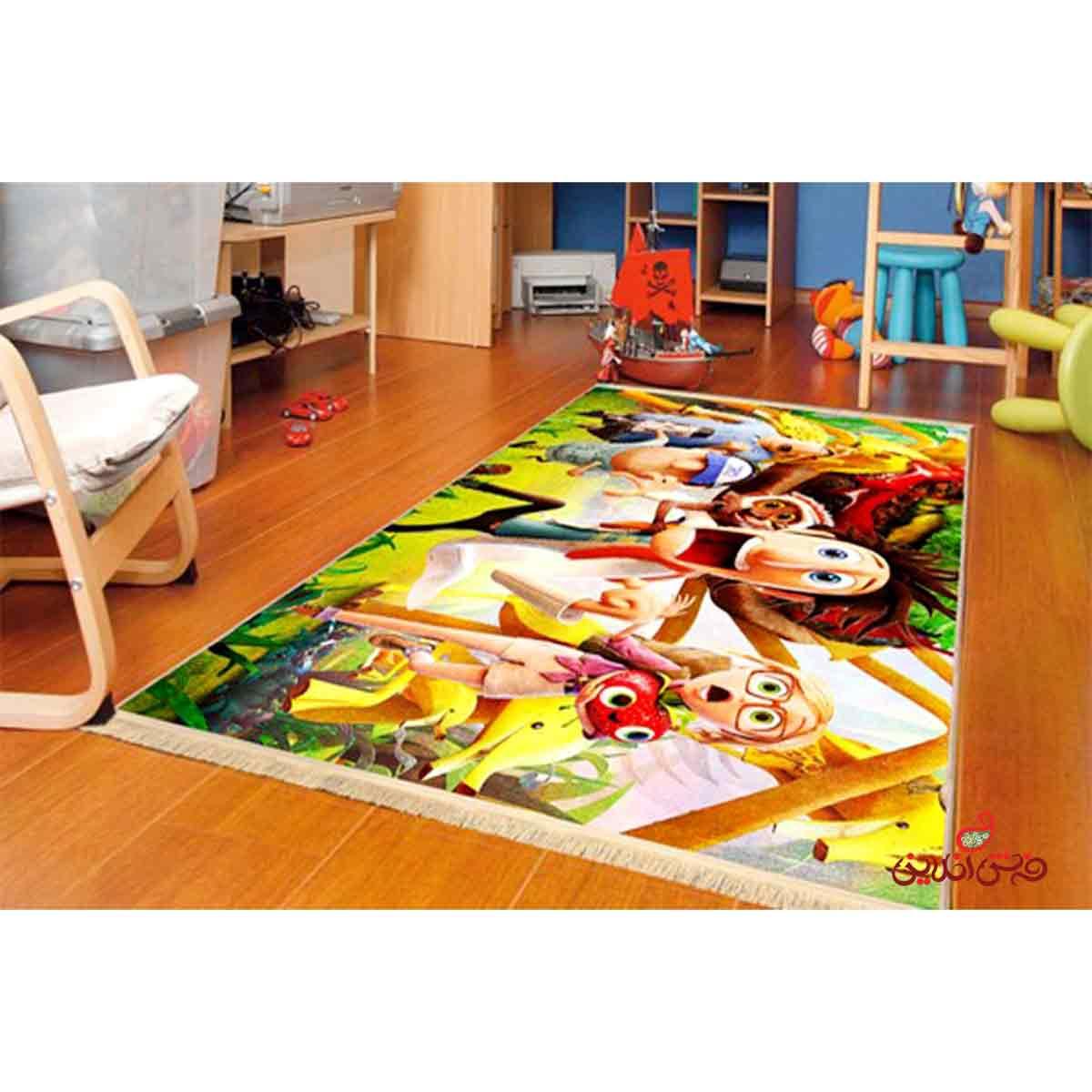 فرش ماشینی کودک کلاریس احتمال بارش کوفته قلقلی کد 100202