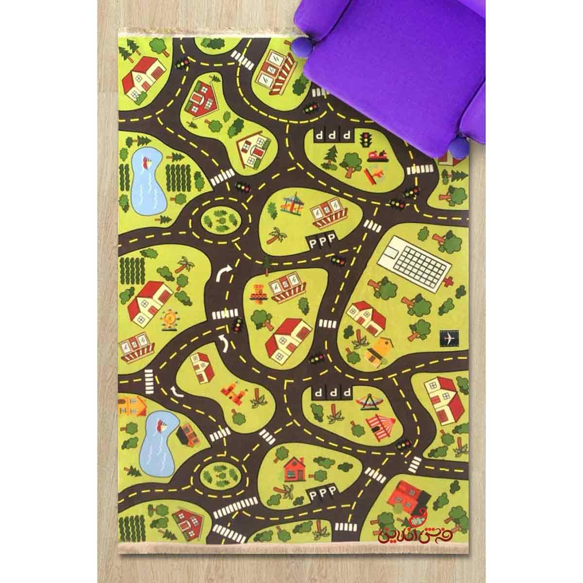 فرش ماشینی کودک کلاریس طرح خیابان کد 100241