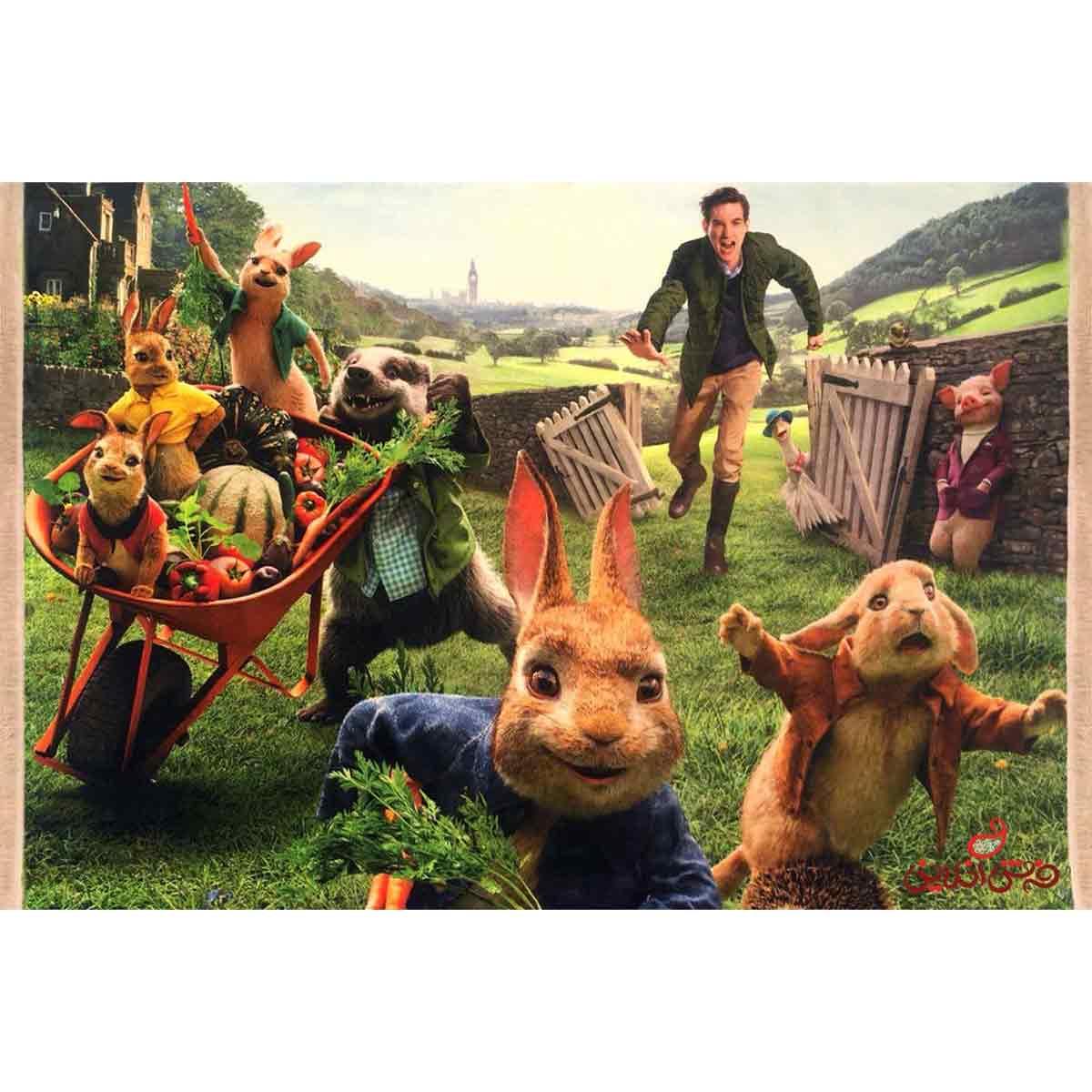 فرش ماشینی کودک کلاریس پیتر خرگوشه کد 100220
