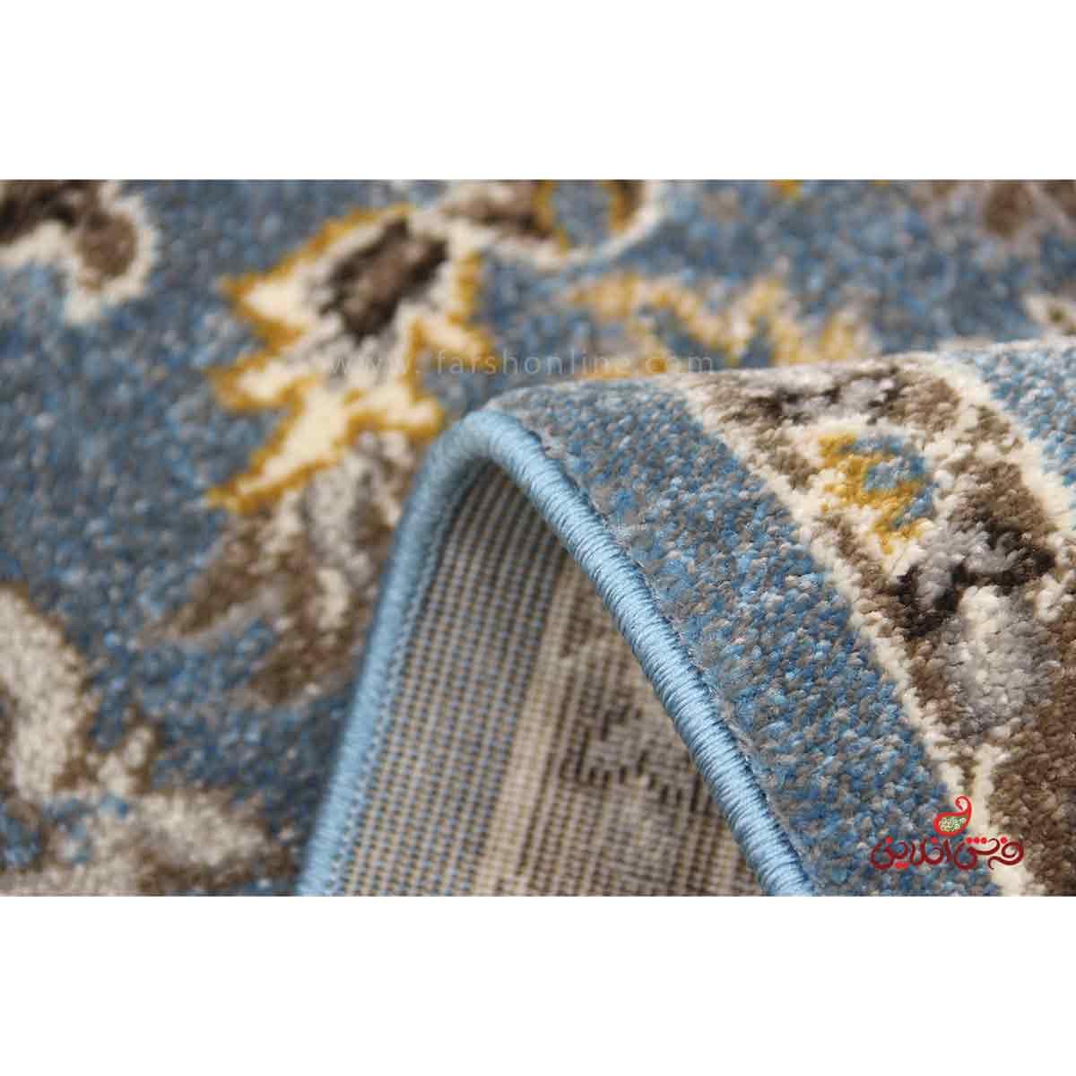 فرش  ماشینی ساوین طرح 4041 آبی