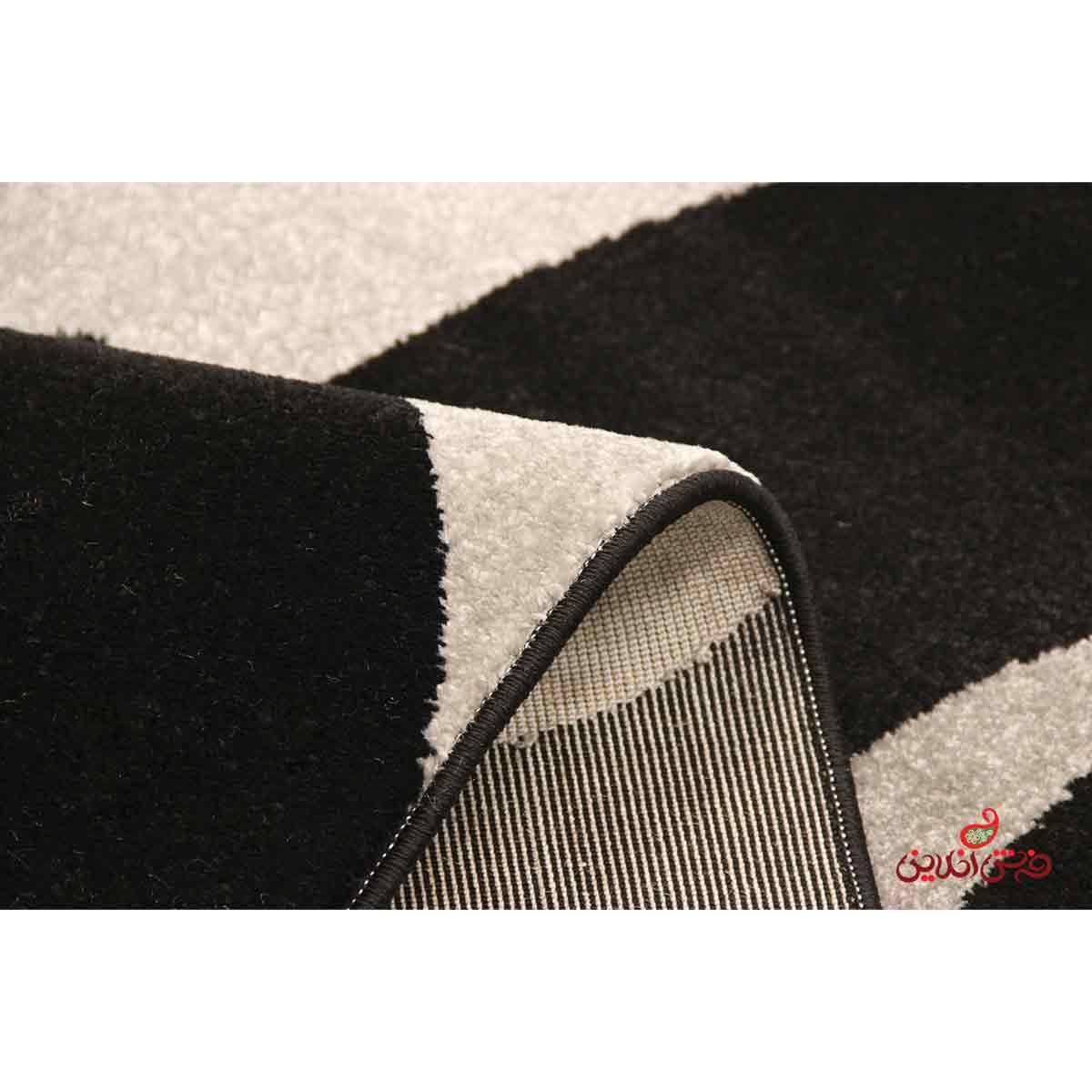 فرش  ماشینی ساوین طرح 4009 مشکی