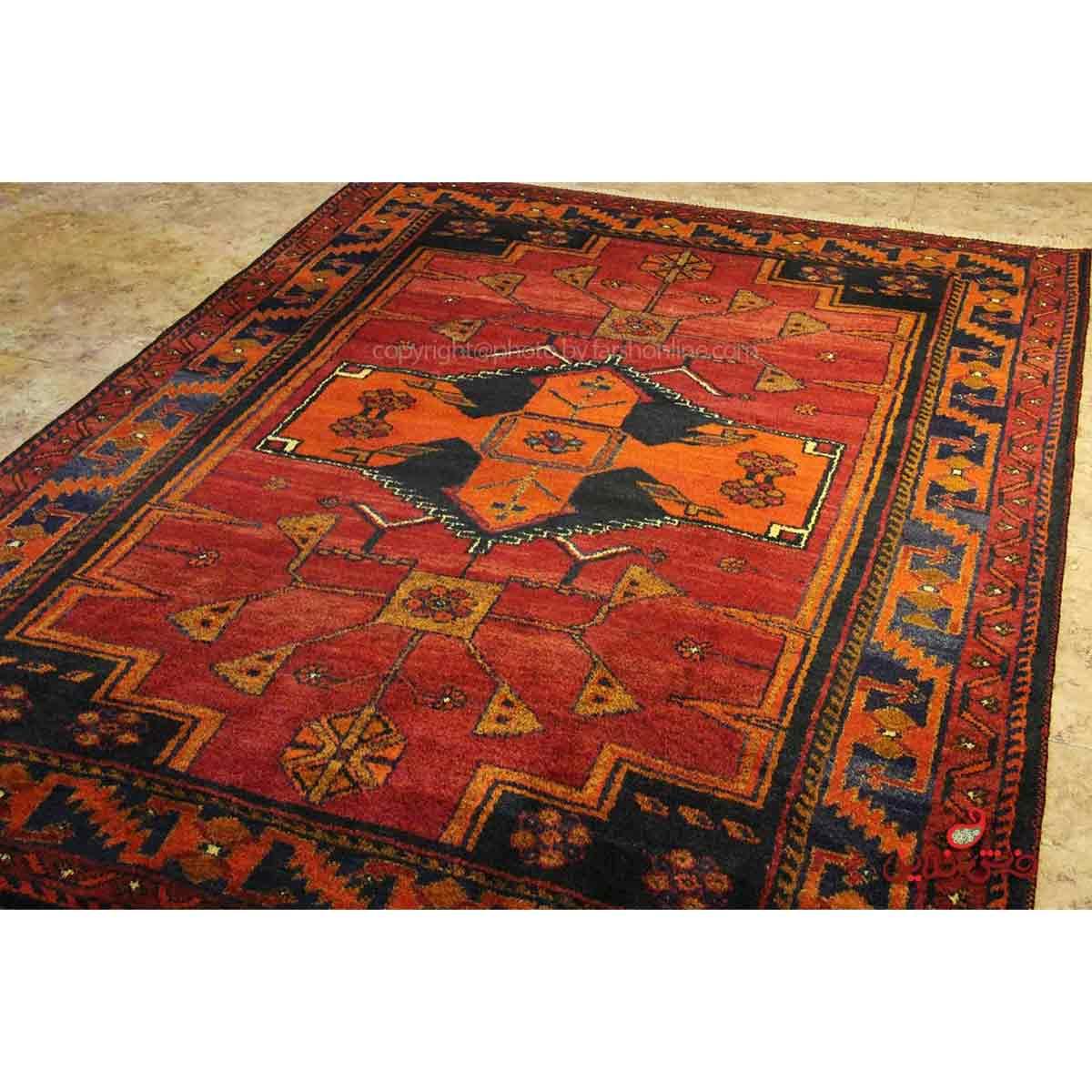 فرش دستباف لری لاکی کد 108093