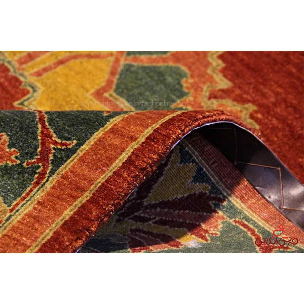 فرش دستباف کردستان مسی گلبهی کد 107827