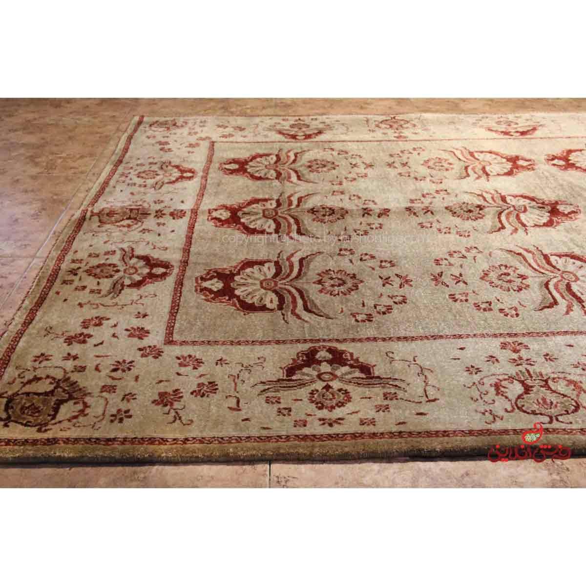 فرش دستباف کردستان نقره ای کد 107793