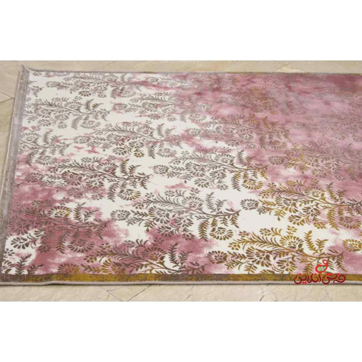 فرش ماشینی ساوین کد 1516 صورتی