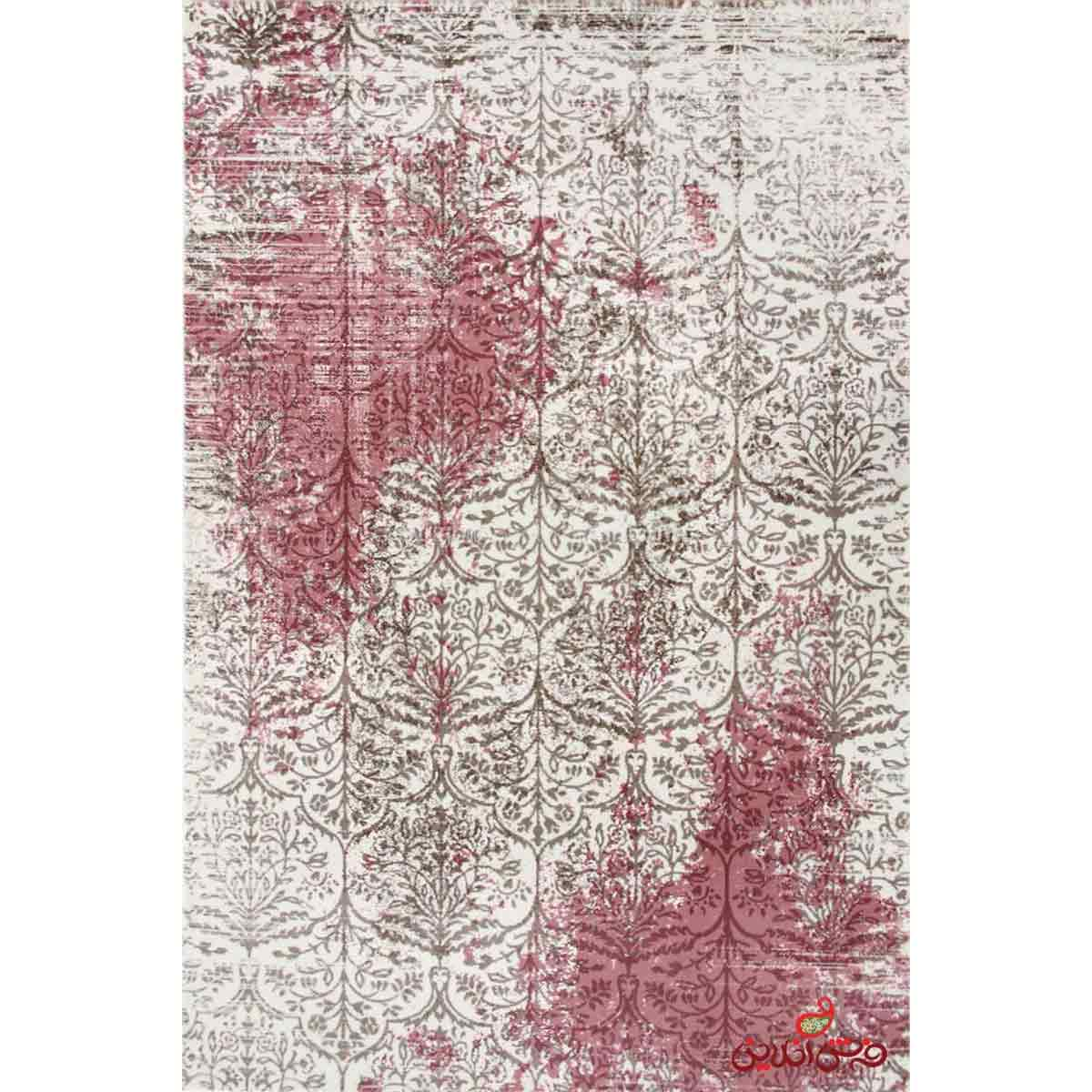 فرش ماشینی  ساوین کد 1514صورتی