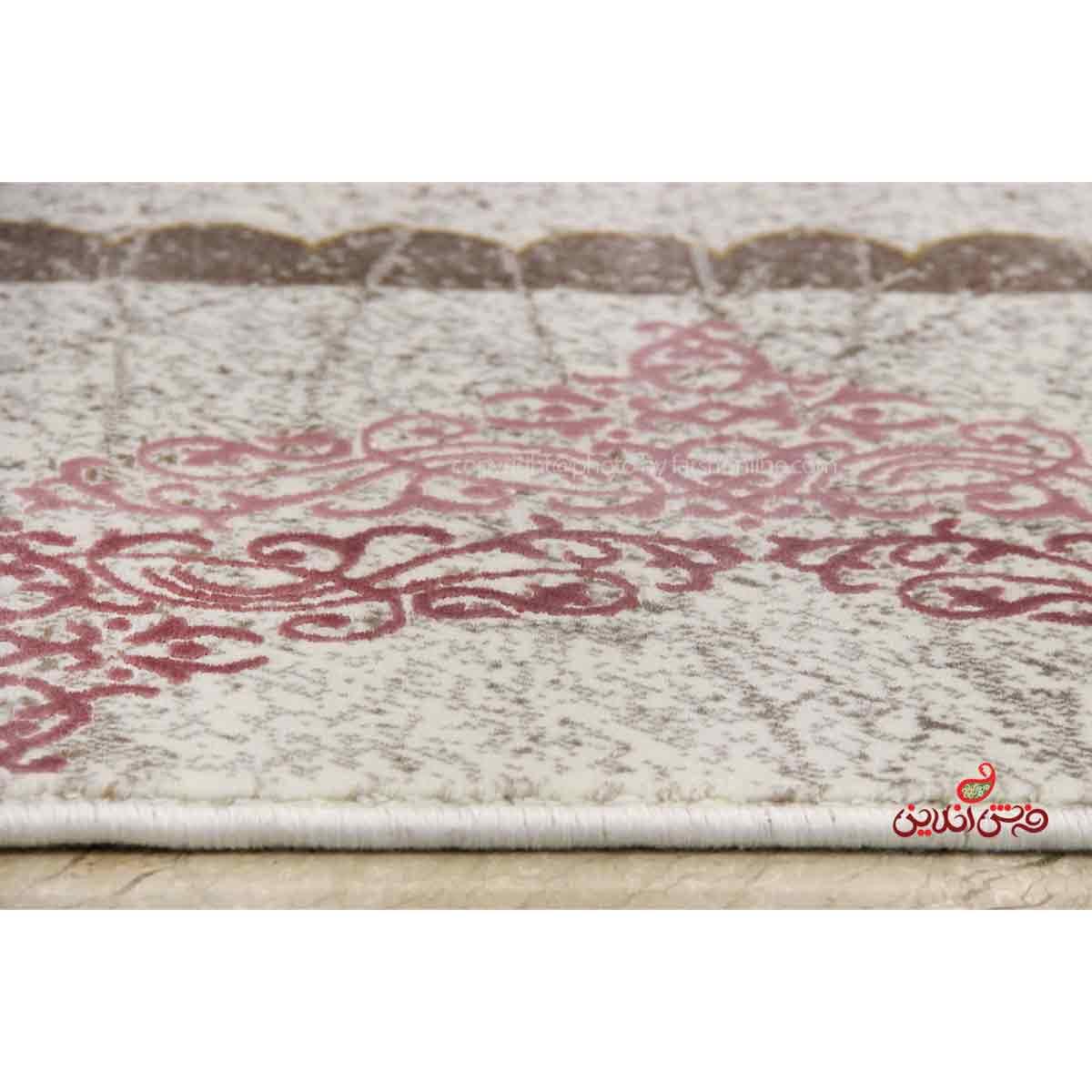 فرش  ماشینی ساوین کد 1505 صورتی