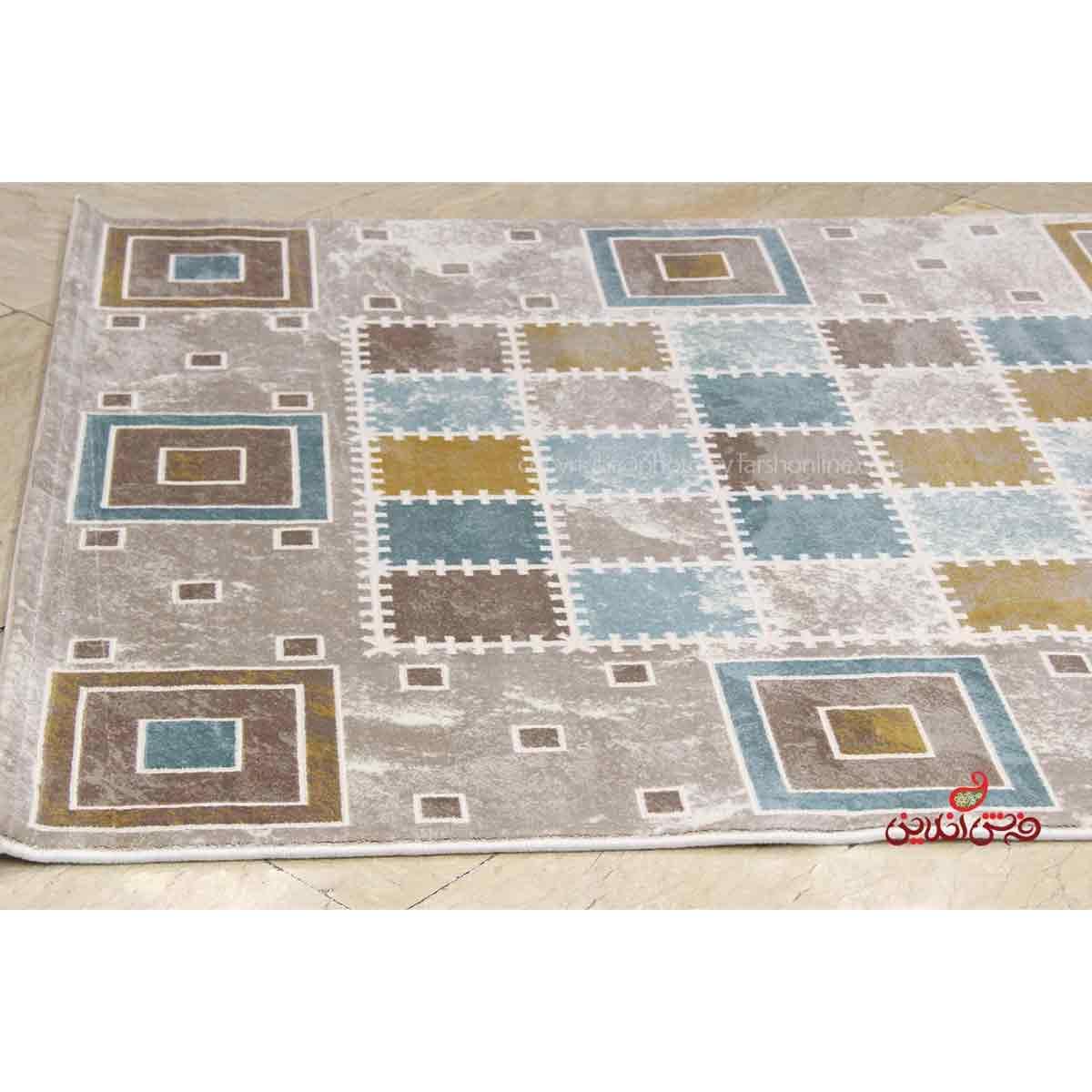 فرش ماشینی ساوین کد 1504 آبی