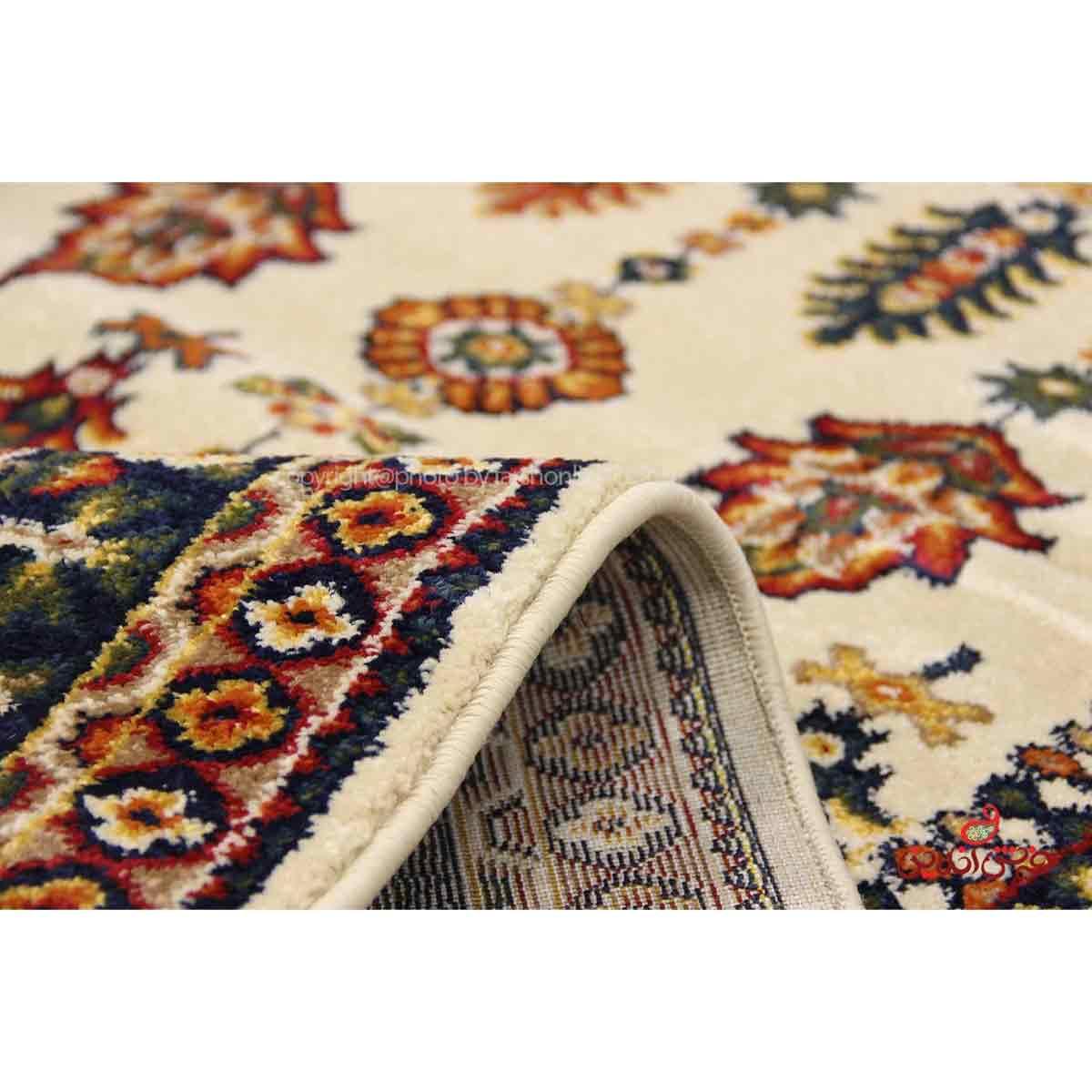 فرش ماشینی ساوین طرح سارگل کرم