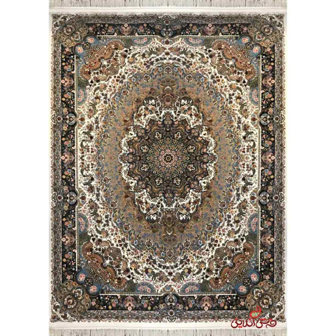 فرش ماشینی توس مشهد طرح پازیریک کرم