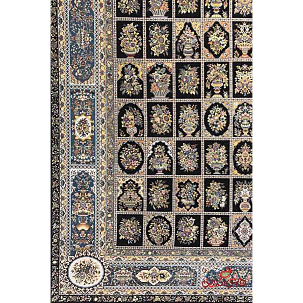 فرش مشهد اردهال کد  83 مشکی