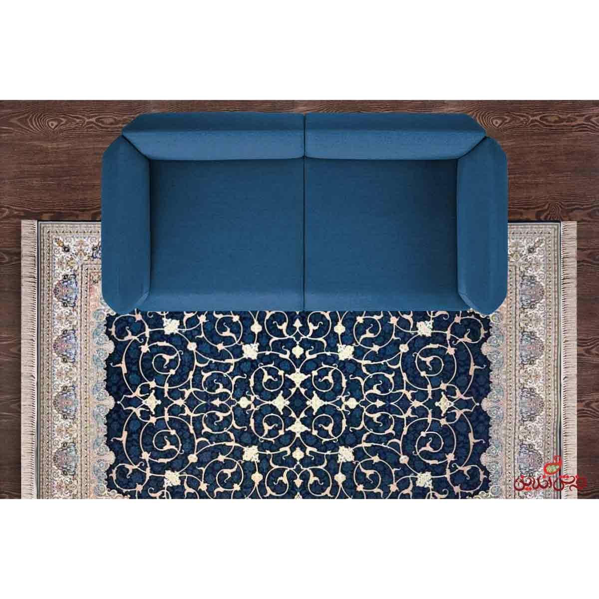 فرش ماشینی هایبالک مشهد اردهال کد 103 مشکی پرکلاغی