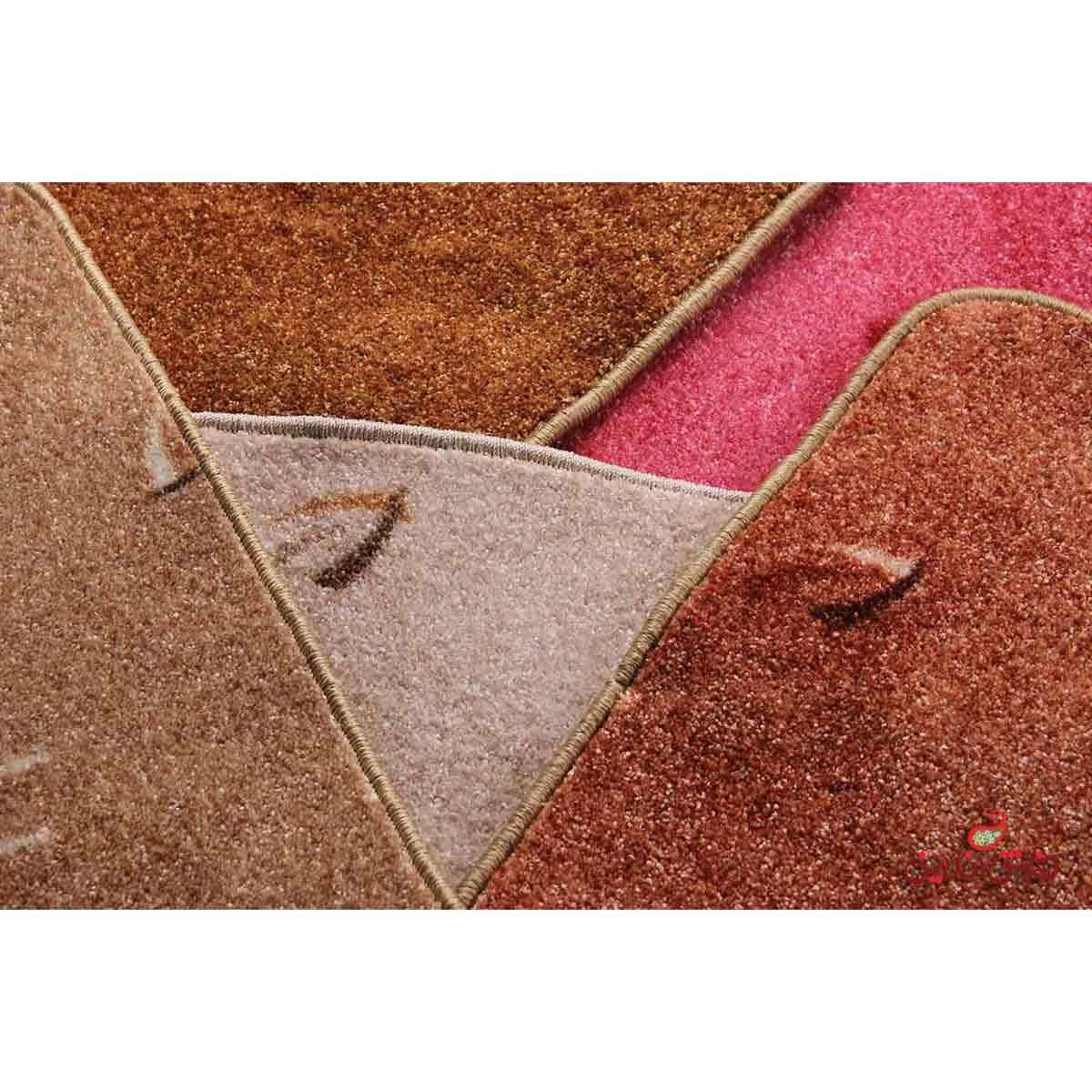 موکت ظریف مصور طرح هراز قهوه ای کد 5330
