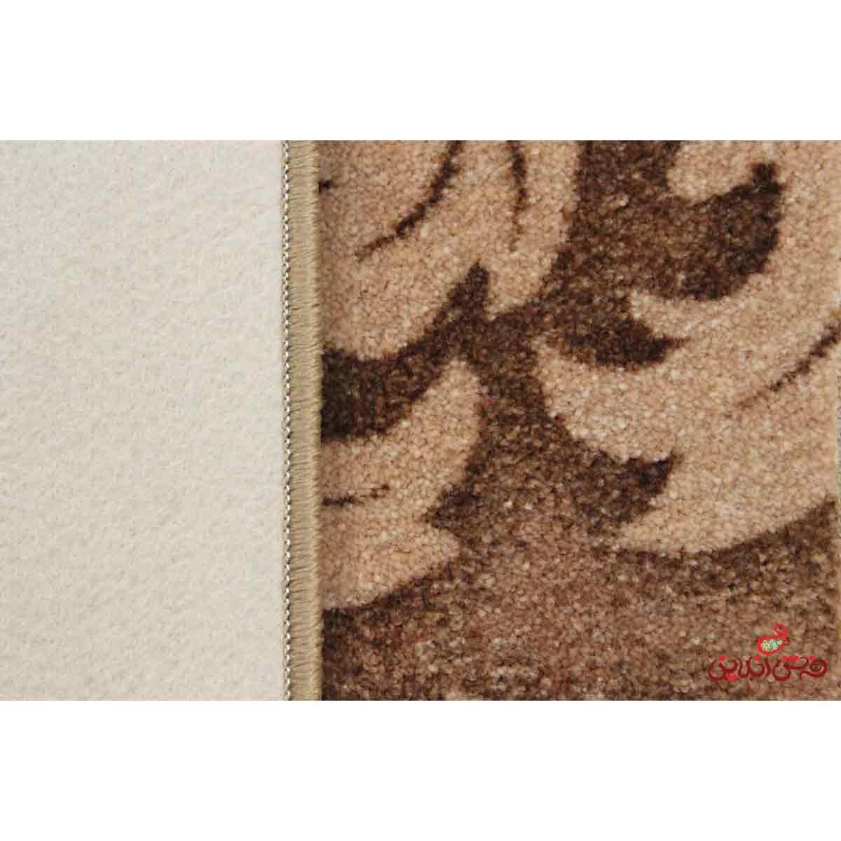 موکت ظریف مصور طرح کاملیا قهوه ای کد 6031