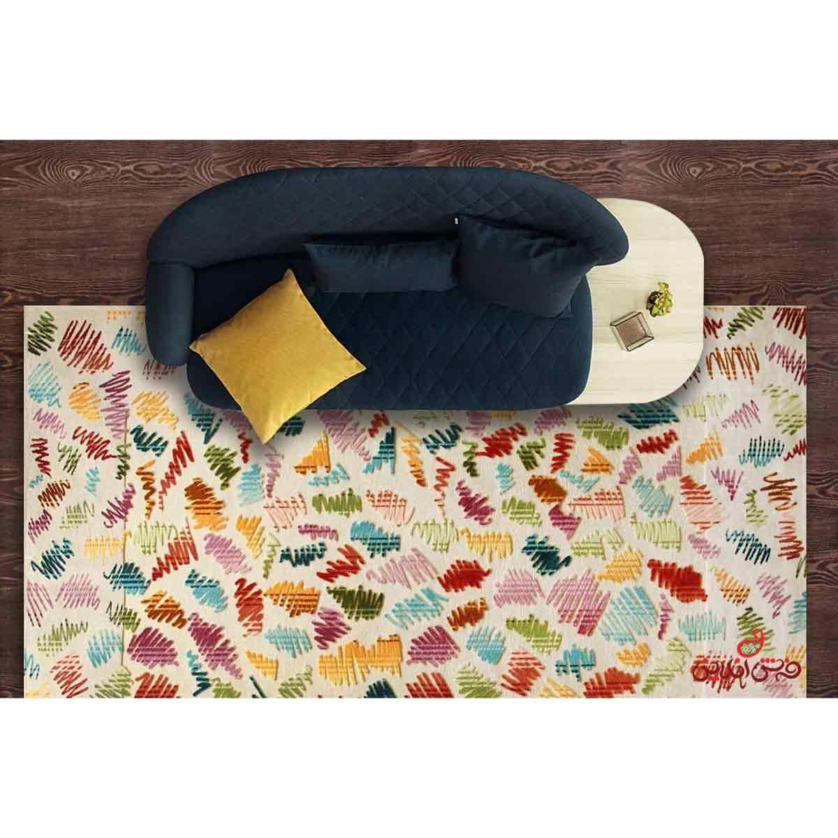 فرش ماشینی آرمانی کلکسیون راکس کد 1706 کرم