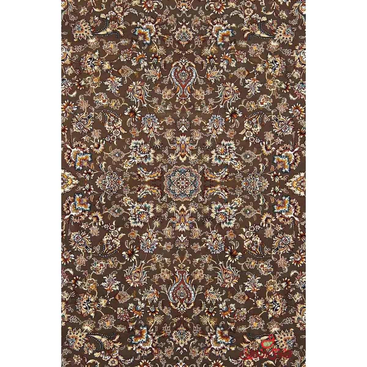 فرش نگین مشهد طرح 2591 رنگ گردویی
