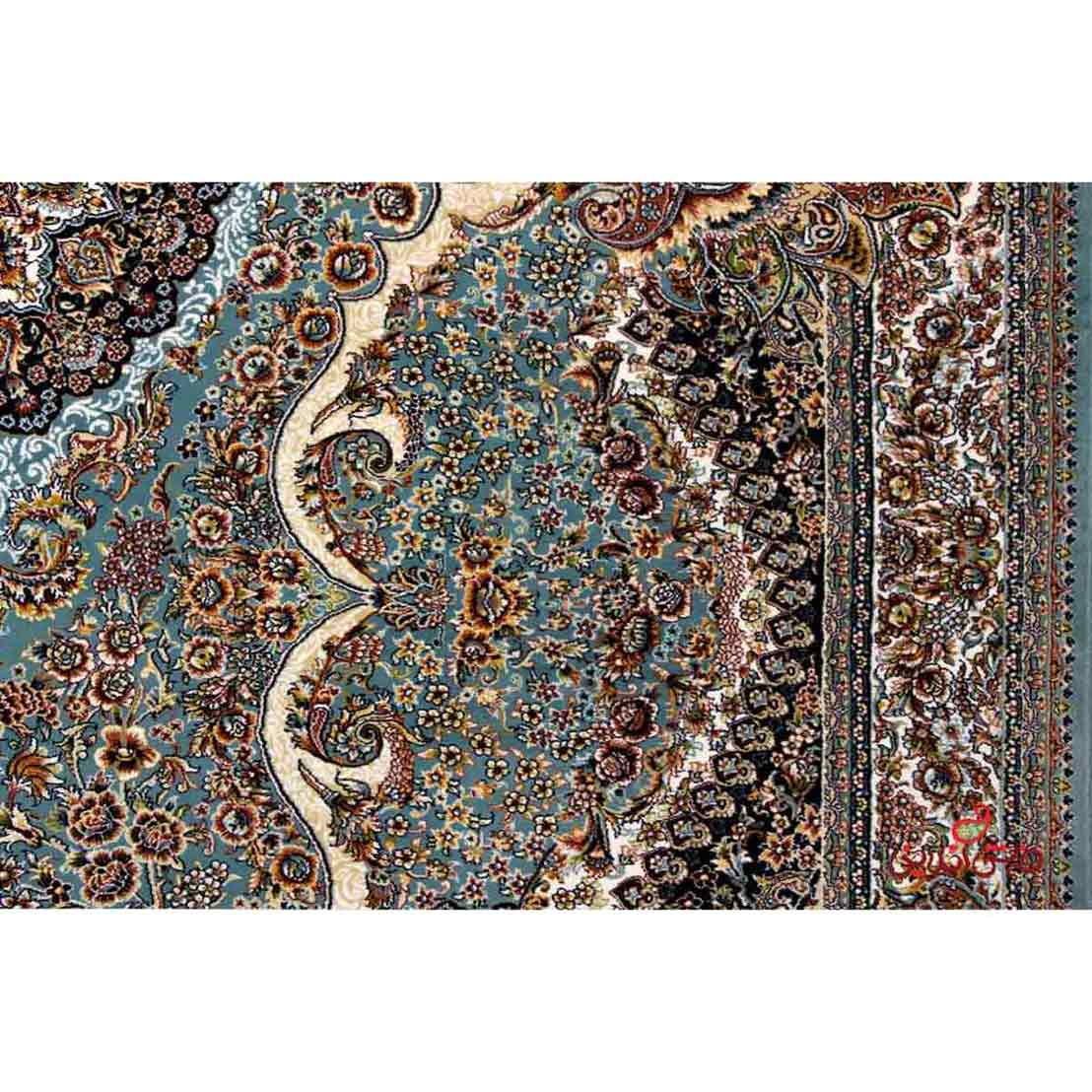 فرش نگین مشهد طرح 2580 رنگ آبی